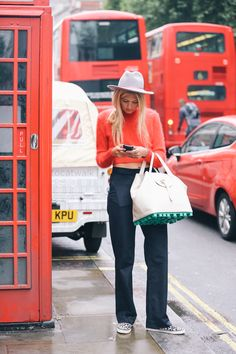 topshop:  London bus red is one of our favourite hues at the moment.
