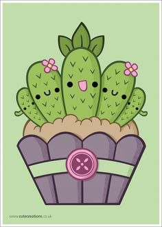 Cactus Cupcake by *Cute-Creations on deviantART