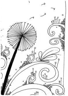 Le Creazioni di Kiara : crazy for DOODLING #15 ... DANDELION