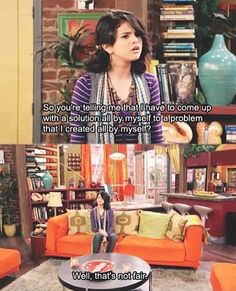 Disney is hilarious I can't pick my favorite but I'm going with wizards of waverly place ones day...20?