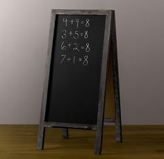 old school chalk board Chalkboard Easel, Woodworking Projects, Diy Projects, Old Cabinet Doors, Restoration Hardware Baby, Chalk It Up, Kids Wood, Home Art, Accent Decor