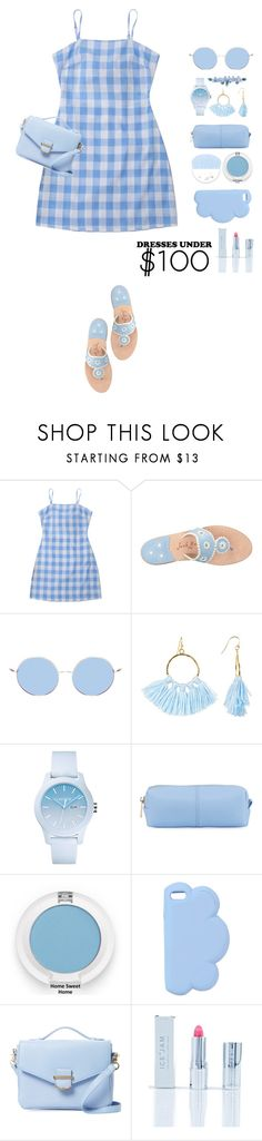 """dresses under 100"" by katymill ❤ liked on Polyvore featuring Jack Rogers, Taolei, Lacoste, KC Jagger, STELLA McCARTNEY, Cynthia Rowley, Ice + Jam, Sretsis, dress and under100"