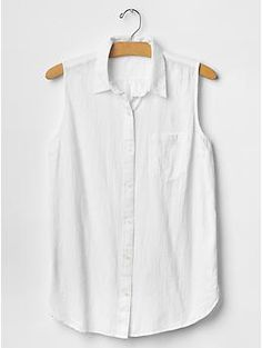 Floral jacquard sleeveless shirt | Gap
