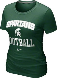 7e554f919cc Michigan State Spartans Women s Green Nike Gridiron T-Shirt Michigan State  University