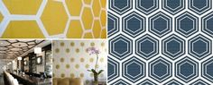 Pattern Spotting: Honeycomb ~~ We have seen geometric patterns inundate our homes, our decor and our style. It is not to say that Moroccan prints or chevron is out, but it is time to make a little space for a new pattern coming up on the horizon. Honeycomb. And if you are still ske…