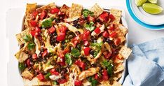 Ready in minutes this family-friendly chicken nachos dish is sure to be a hit!