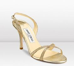 Jimmy Choo India Sandal in Gold