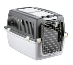Transportbox Hunde Gulliver, IATA Flugbox, Gulliver 4, 71x51x50 cm, dunkelgrau/hellgrau - http://www.transportbox-katzen.de/produkt/transportbox-hunde-gulliver-iata-flugbox-gulliver-4-71x51x50-cm-dunkelgrauhellgrau/