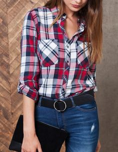 Cowgirl Outfits: Top 30 Cowgirl Outfits - Part 9 Plaid Outfits, Trendy Outfits, Trendy Fashion, Fashion Outfits, Fashion Ideas, Cowgirl Outfits For Women, Western Outfits, Outfits Con Camisa, Outfits Primavera