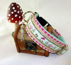 """Hund: Halsbänder - Hundehalsband """"Fairytale""""-beige - ein Designerstück von Pimp-your-World bei DaWanda"""