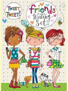 Friends Writing Set by Rachel Ellen Designs