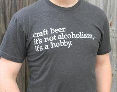 Craft Beer Tshirt on BourbonandBoots.com