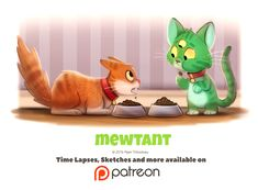 Day 1407. Mewtant by Piper Thibodeau on ArtStation.