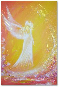 Limited angel art photo angel love modern angel by HenriettesART