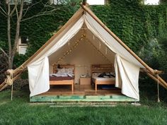 Safari Glamping Tent: 6 Steps (with Pictures) Backyard Camping, Tent Camping, Camping Ideas, Camping Stuff, Camping Outdoors, Family Camping, Camping Hacks, Frame Layout, Diy Tent