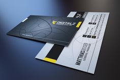 Modern Corporate Business Card by Marvel on Creative Market