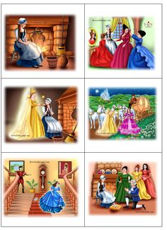 Speelplankaarten Assepoester Fairy Tale Activities, Sequencing Activities, Story Sequencing Pictures, Picture Story For Kids, Diy For Kids, Crafts For Kids, Moral Stories For Kids, Writing Pictures, Fairy Tales For Kids