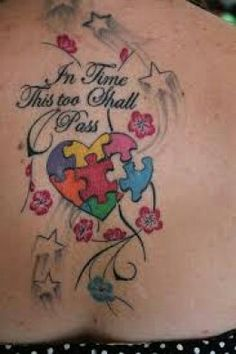 Autism awareness tribal with a quote