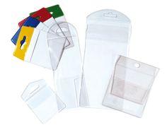 Porte-étiquette adhésif et pochette plastique