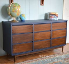a mid century modern dresser gets a facelift, painted furniture, repurposing upcycling