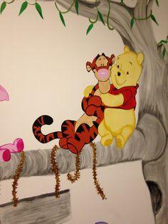 Pooh muurschildering Gelderland