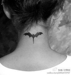I think this is where i want my batman tat small bat tattoo #bat #tattoo