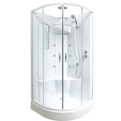 Cabine de douche hydromassante welle 799 00 bathroom pinterest for Cabine de douche castorama