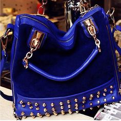 Hobo Handbags, Fashion Handbags, Fashion Bags, Fashion Trends, Hobo Style, Blue Bags, Blue Purse, Suede Leather, Black Suede