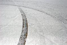Salt Flats tire tracks