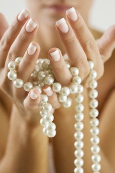 Wouldn't it be beautiful if you could have pearls on your hands.how about on your nails? Check out our pins on here for nail polishes that can give you all the precious touches you need to make your mani really shine! Pearl Love, Pearl And Lace, Boudoir, Tres Belle Photo, String Of Pearls, Real Pearls, Pearl Diamond, Luxury Jewelry, Girls Best Friend