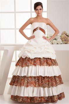 Pera de Marfil bola vestido Strapless piso de longitud vestido de boda de verano más hermosa #vestidosdebaile #vestidosde15años  #vestidodefiesta