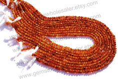 Carnelian Smooth Round Quality C / Pack of by GemstoneWholesaler