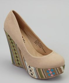 Camel & Green Moon Wedge by U Love Me #zulily #zulilyfinds