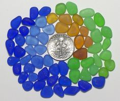 SOLD! Teeny-Tiny Size Deeps (60) Cobalt Cornflower etc Jewelry Quality Genuine Sea Glass Lot from Ft Bragg (D5) - pinned by pin4etsy.com