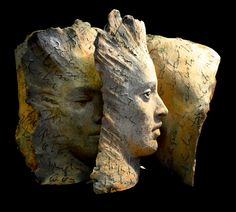 Terracotta Book Sculptures Tell Deep Stories with Faces, Paola Grizi - My Modern Met