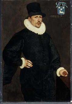 Portret van Aernout Cobbault (1555-1635) (1588) Anoniem Noord-Nederlands. Olieverf op paneel. Inventarisnummer 2467