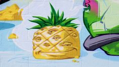 The Pineapple Mural video - great work done by friends of Zoom!    ICU Art Mural painted by Swank One and AXIS on Melrose Ave in Los Angeles February 2013.