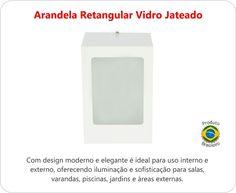 portao / entrada ? Arandela Retangular Aço E Vidro Temperado Luminaria Externa - R$ 36,00 no MercadoLivre