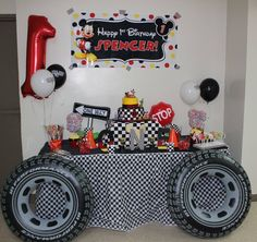 Mickey and the Roadster Racers 1st Birthday Party