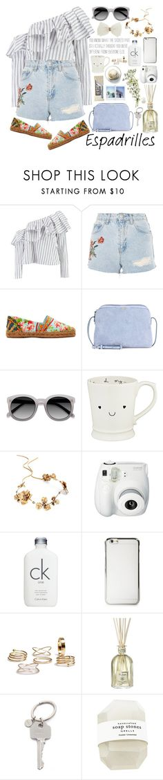 """""""2601. Step Into Summer: Espadrilles"""" by chocolatepumma ❤ liked on Polyvore featuring Boohoo, Topshop, Dolce&Gabbana, The Row, EyeBuyDirect.com, Disney, Twigs & Honey, Fujifilm, Calvin Klein and Dr. Vranjes"""