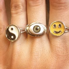 I had a bunch of these classic 90s rings. Except the middle one.
