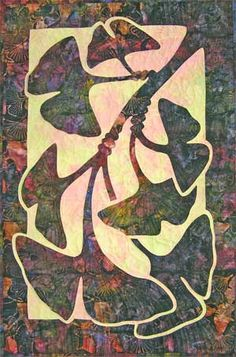 Ginkgo applique quilt pattern