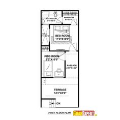 House Plan For 15 Feet By 50 Plot Size 83 Square Yards