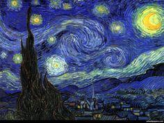 La noche estrellada, Vincent van Gogh.. amo ese azul