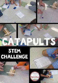 Catapults! An exciting,hands-on experiment and design task! After experimenting and keeping data students use the data to build the best catapults for several performance tasks! Includes detailed teacher directions and lab sheets!