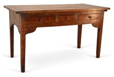 19th-C. French Fruitwood Desk