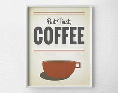 Coffee Print Coffee Poster Inspirational by LotusLeafCreations, $10.00