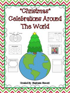 My Christmas Celebrations Around The World Unit is complete! I enjoy this unit with my class every December and it's my favorite unit we d. Christmas Activities For School, Preschool Christmas, Noel Christmas, Holiday Activities, Christmas Ideas, Holiday Crafts, Holiday Ideas, Around The World Theme, Celebration Around The World
