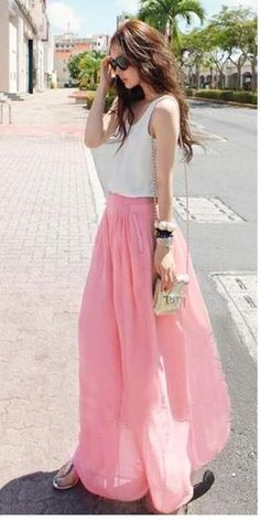 Europe and America wide harem pants, chiffon high waist big code base divided skirts, pants, casual pants female summer bloomers pants leg pants - Taobao Chiffon Pants, Skirt Pants, Harem Pants, High Waisted Culottes, Pants For Women, Clothes For Women, Women Trousers, Knitwear Fashion, Sammy Dress