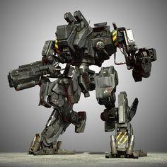 robot, mech with high quality. Gundam, Robot Militar, Arma Steampunk, Battle Robots, Mecha Suit, Arte Robot, Armadura Medieval, Cool Robots, Robot Concept Art